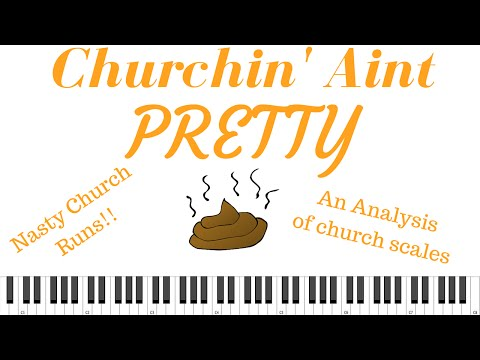 "Gospel runs on piano | ""Churchin aint Pretty"" A tutorial on gospel scales"