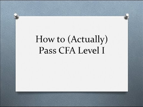 How to (Actually) Pass CFA Level 1