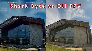 Shark Byte vs DJI FPV in an Open Area ????