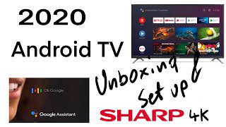 SHARP 4K android tv 2020 unboxing and set up