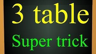 How to learn  tables simple trick || 3 table | easy method for tables | A to z children channel
