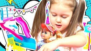 КРУИЗНЫЙ ЛАЙНЕР Отправляемся в путешествие по морю с Барби и Стейси Корабль с бассейном Kids Video
