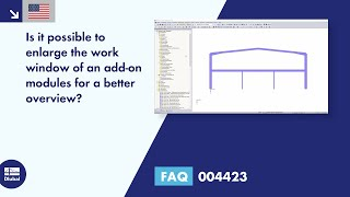 FAQ 004423 | Is it possible to enlarge the work window of an add-on modules for a better overview?