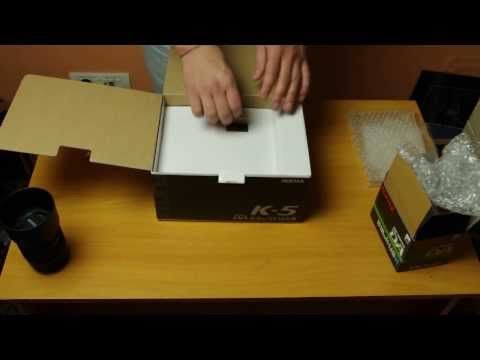 Pentax K5 unboxing