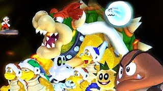 What Happens When Mario Goes Up Against All Enemies in The Final Boss of NSMBW?