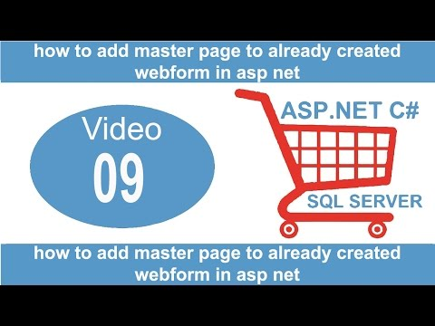 how to add master page to already created webform in asp net