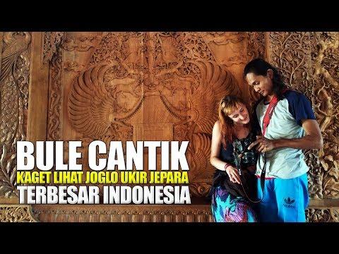 Bule Cantik Kaget Di KLATEN Ada JOGLO UKIR JATI JEPARA Terbesar Indonesia