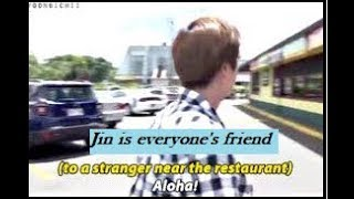 #7 BTS Jin friendly personality moments - Everyone's friend ft Park Jihoon Hwang Chi Yeol Random Ppl