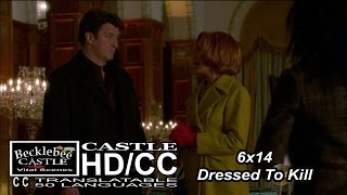 "Castle 6x14  ""Dressed To Kill"" Castle & Martha at the Cordova  (HD/CC)"