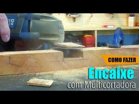 Encaixe meia madeira - Multicortadora #DIY • Oficina de Casa
