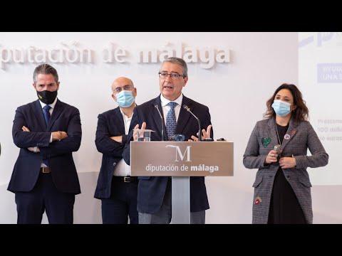 Presentación de los presupuestos de la Diputación de Málaga para 2021