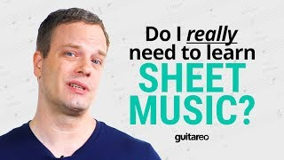 Do You Need To Learn Sheet Music? | Guitareo POV