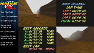 "MK64 - World Record on Choco Mountain - 38""08 (NTSC: 31""67) by Matthias Rustemeyer"