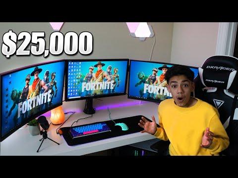 My New 2019 Fortnite Gaming Setup / Room Tour! ($25,000+)