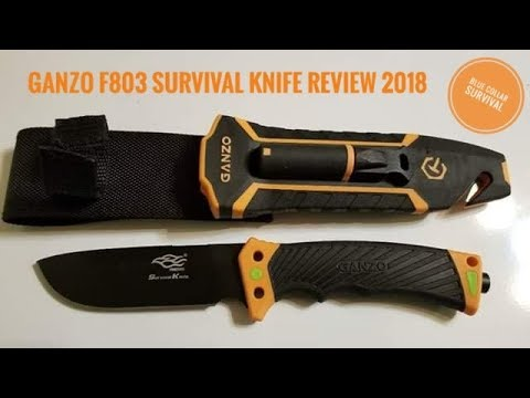 Ganzo F803 Survival knife review 2018. Better than Bear Grylls survival knife?