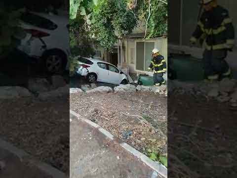 Car veers out of control in Haifa