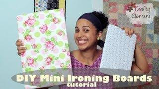 Mini Ironing Board DIY Tutorial- NO SEW
