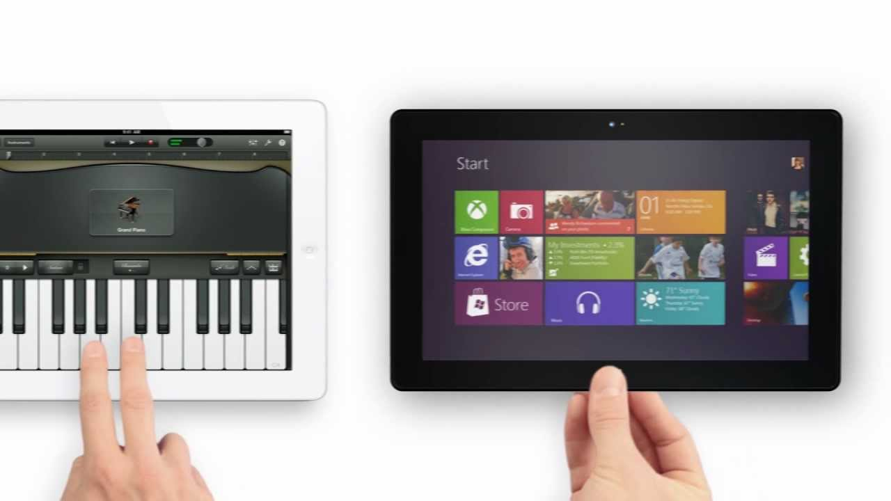 What An iPad And Microsoft Surface Parody Commercial Looks Like