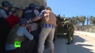 Журналисты RT попали под обстрел в Сирии со стороны Турции