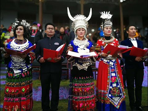 2018 HMOOB KIM TSAWB TSOOBKUJ NOJ 30 HAUV ZOS ROOB XOB. Hmong New Year in Leishan, China