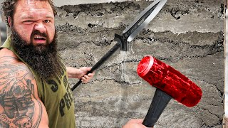 World's Strongest Man vs 100 Layers of Concrete! - Challenge