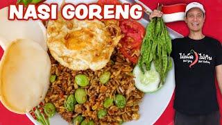 Indonesian Street Food 🇮🇩  NASI GORENG RECIPE - Fried Rice!!   Street Food at Home Ep. 3