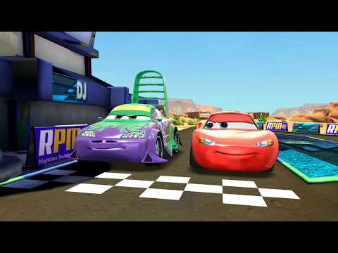 Disney PIXAR CARS Wingo Vs Lightning McQueen Track Racing Game Play For Kids