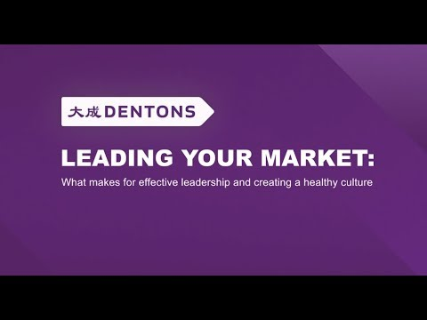 Leading your market: what makes for effective leadership and creating a healthy culture