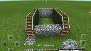 Как построить танк в Майнкрафт.