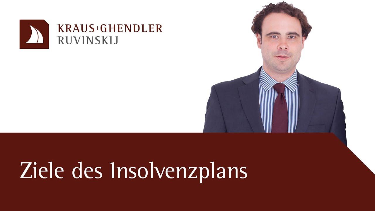 Ziele des Insolvenzplans