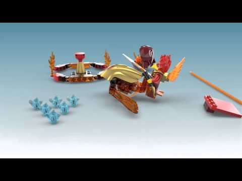 Vidéo LEGO Chima 70155 : Fluminox - Challenge : La tour de Feu