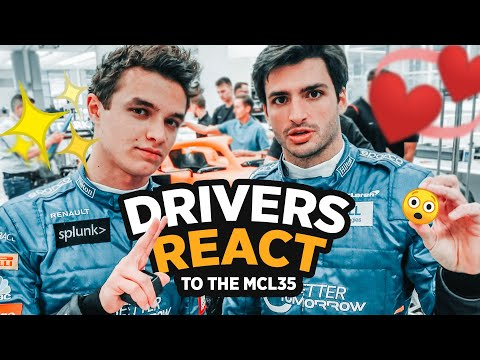 Image: WATCH: Carlos Sainz and Lando Norris' first reactions to the new McLaren!
