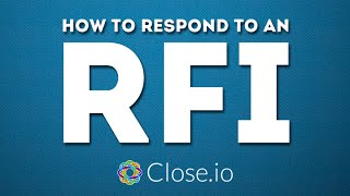 """""""How to respond to an RFI?"""" (Request For Information) - sales advice by @steli"""