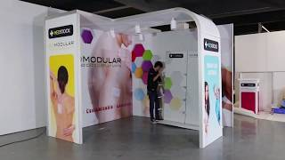 Portable Easy Set Up 3x3m  Trade Show Booth Display Design Exhibition Stand Ideas Video