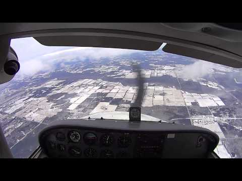 Cessna 172 Spin Recovery Training (Full HD w/ audio)