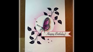 Birthday Butterfly Card Tutorial