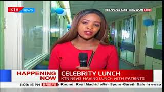 Celebrity Lunch: KTN News staff celebrate the beginning of the year with patients at KNH