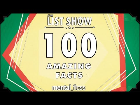 100 Amazing Facts - mental_floss on YouTube (Ep.225)