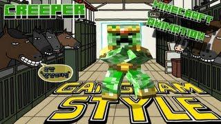 Creepers Dancing GANGNAM STYLE    Minecraft Animation