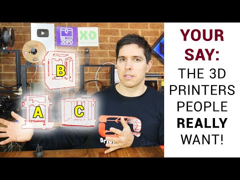 Dear manufacturers, these are the 3D printers we actually want!