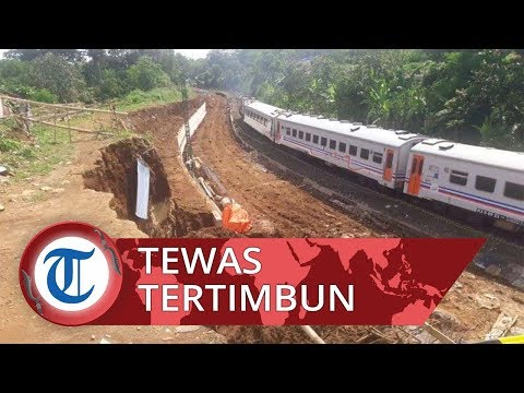 Lokasi Proyek Double Track Rel Kereta Sukabumi-Bogor Longsor, Dua Pekerja Tewas Tertimbun