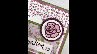 Confirmation card using the Inspired Events Stampset by Stampin' Up!