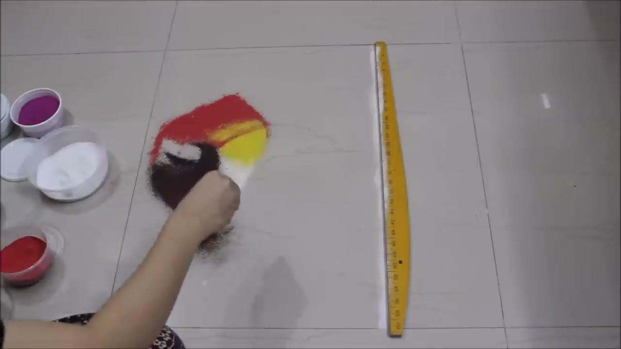 navratri poster rangoli design tutorial by shital nivedar