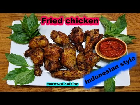 Indonesian Fried Chicken Wing With Lemongrass And Galangal/Ayam Goreng Sereh & Lengkuas