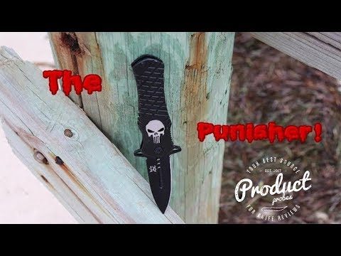 PUNISHER Assisted Opening Tactical SKULL Pocket Knife Review