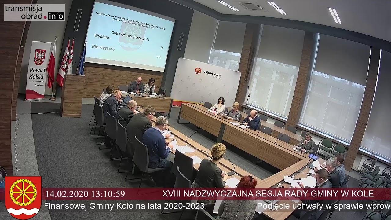 Zdjęcie do XVIII Sesja Rady Gminy Koło