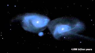 Milky Way and Andromeda Galaxies Collision Simulated | Video