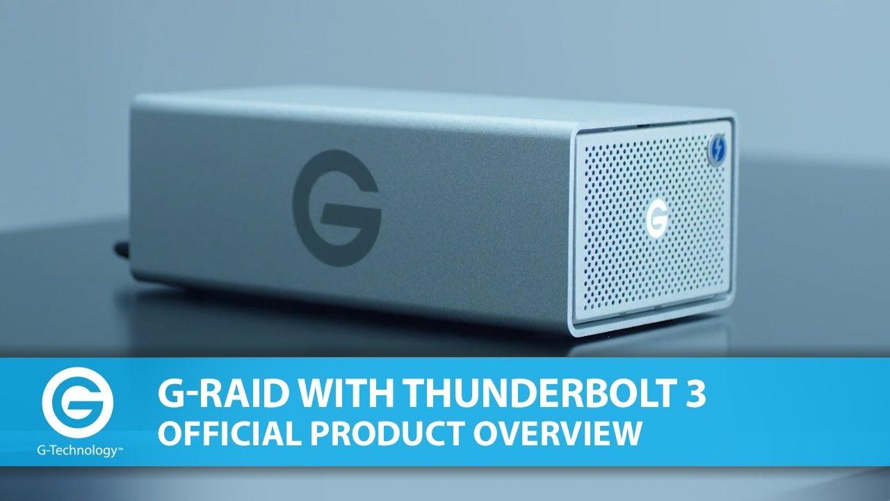 G-Tech G-Raid with Thunderbolt 3