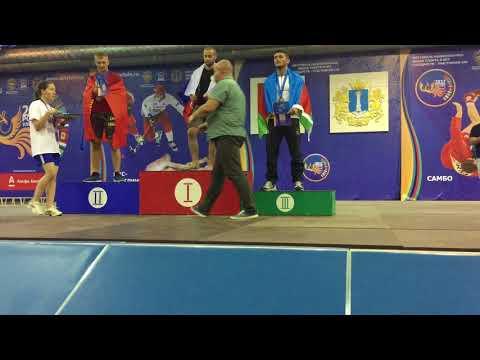Награждение Бижоева Алима до 80 кг (Чемпионат СНГ по мас-рестлингу 2017г)
