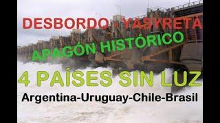Video Inedito De Multimedio.com.ar Mostrando El Desborde De La Represa Yacyretá,